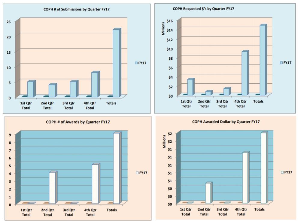 Gráficos de presentación y premios del año fiscal 17