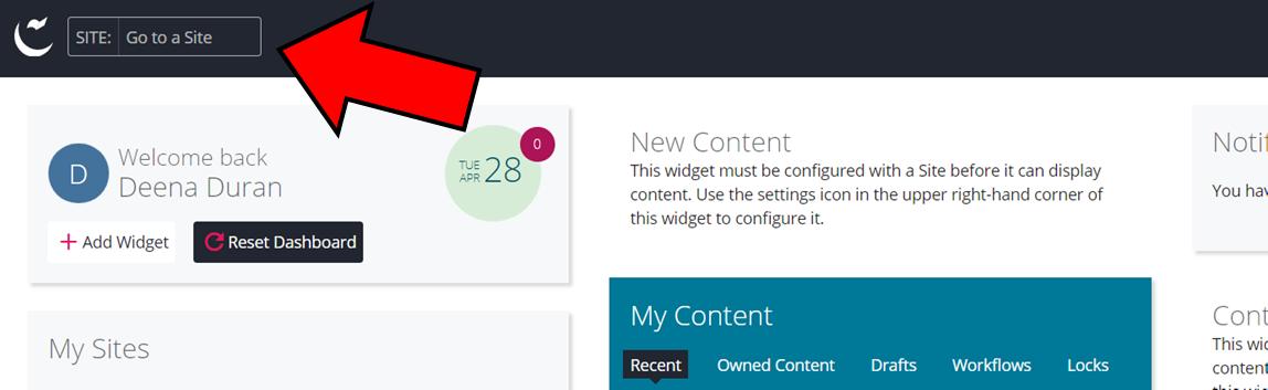 Page d'accueil utilisateur en cascade