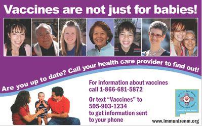 póster Las vacunas no son solo para bebés