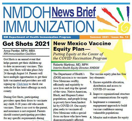 Boletín informativo más reciente sobre inmunizaciones