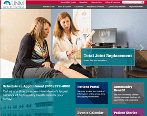 UNM Health System web site