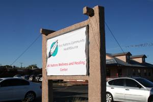 Signo de centro de bienestar.