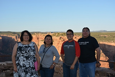 IIKD members in front of a canyon in Arizona.
