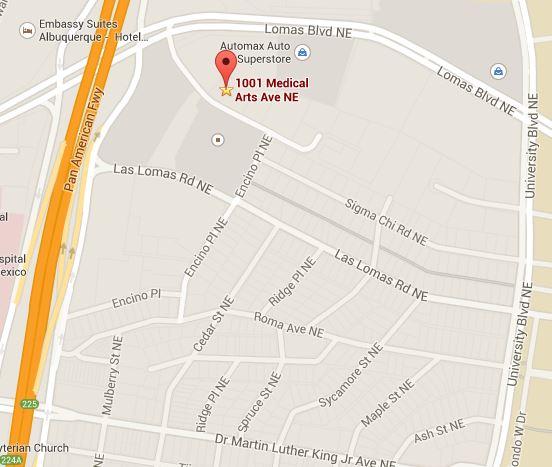 Mapa de ubicación de CNAH.