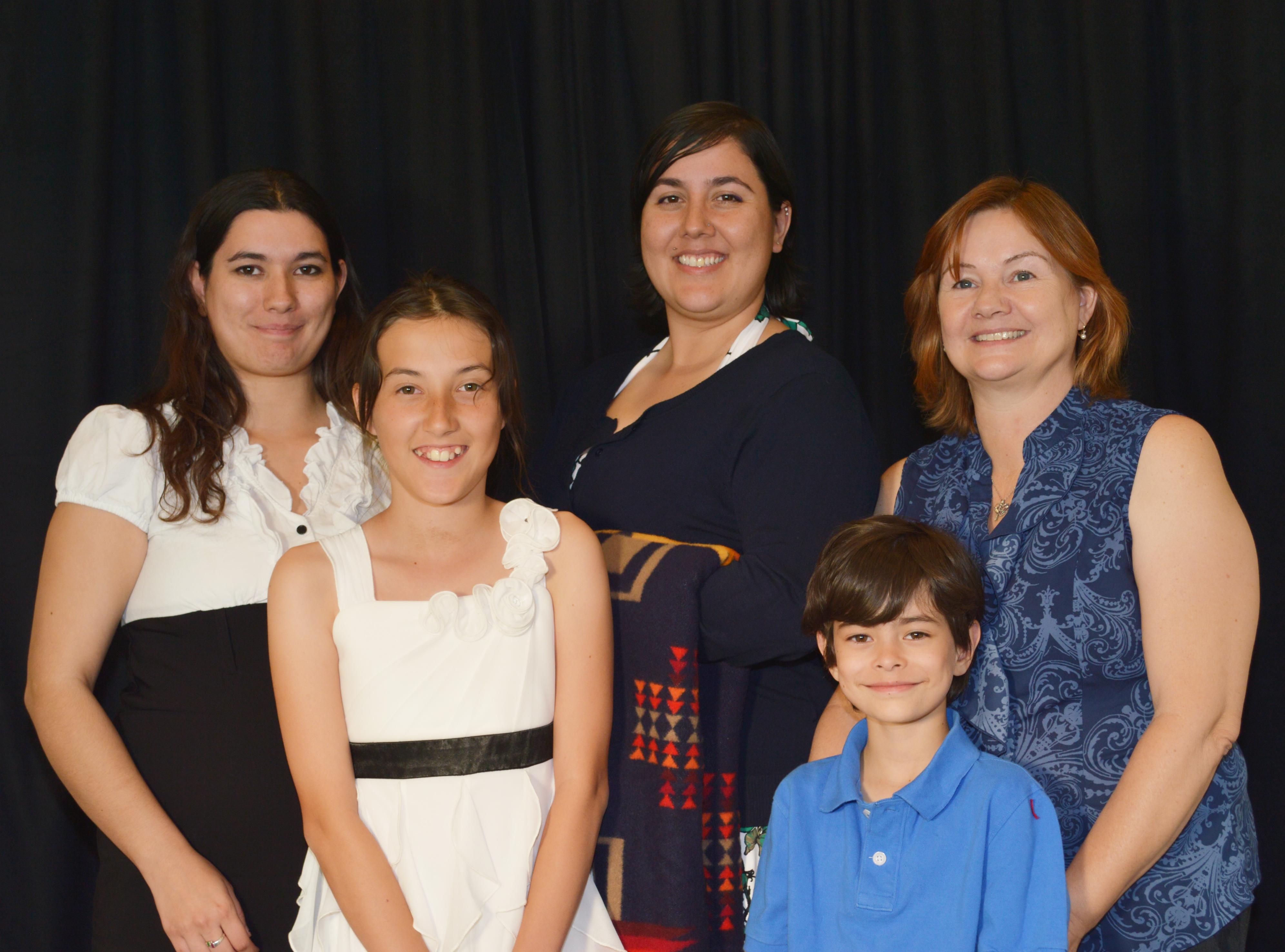 Shawndell Bowers con su familia.