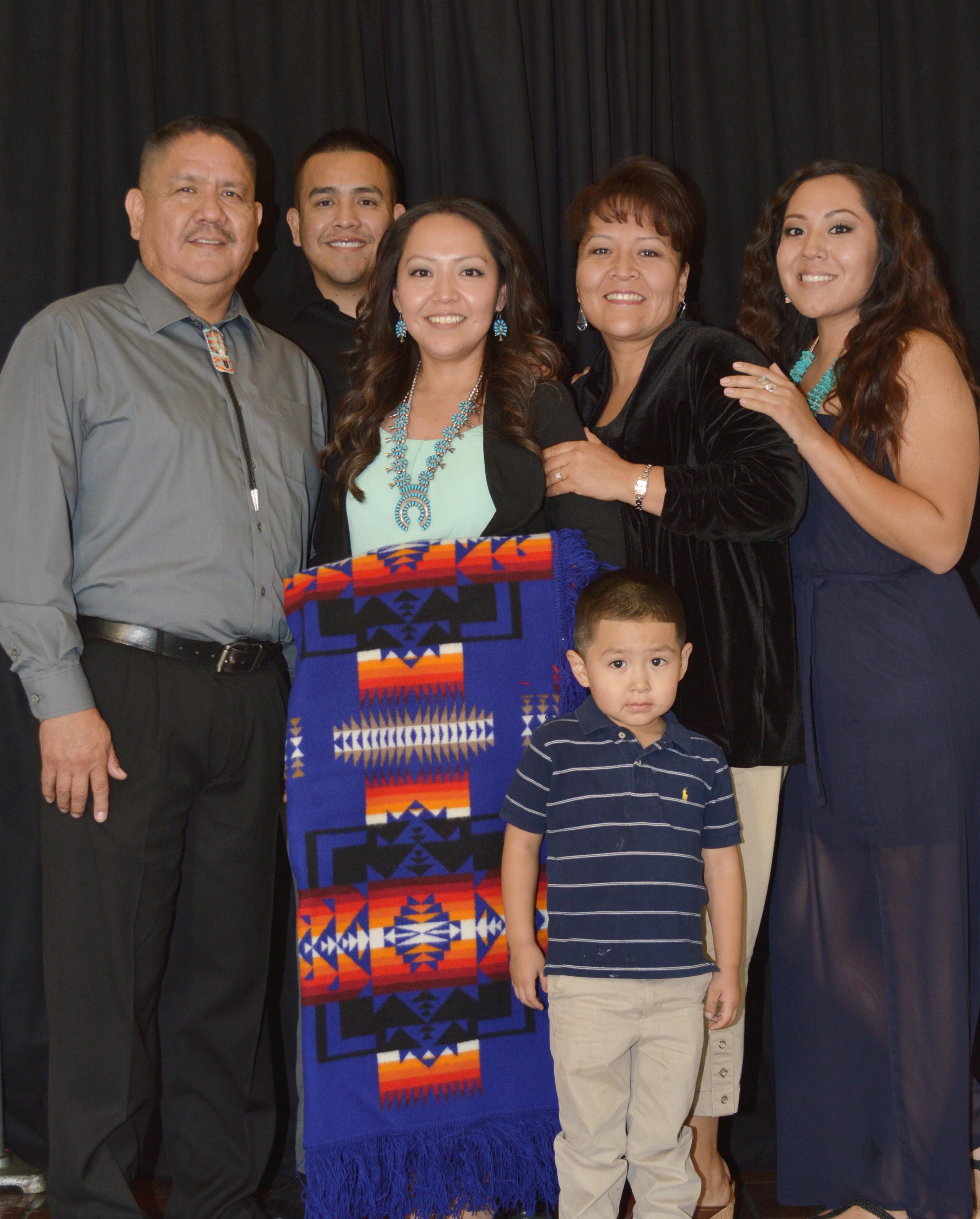Graduado y familia.