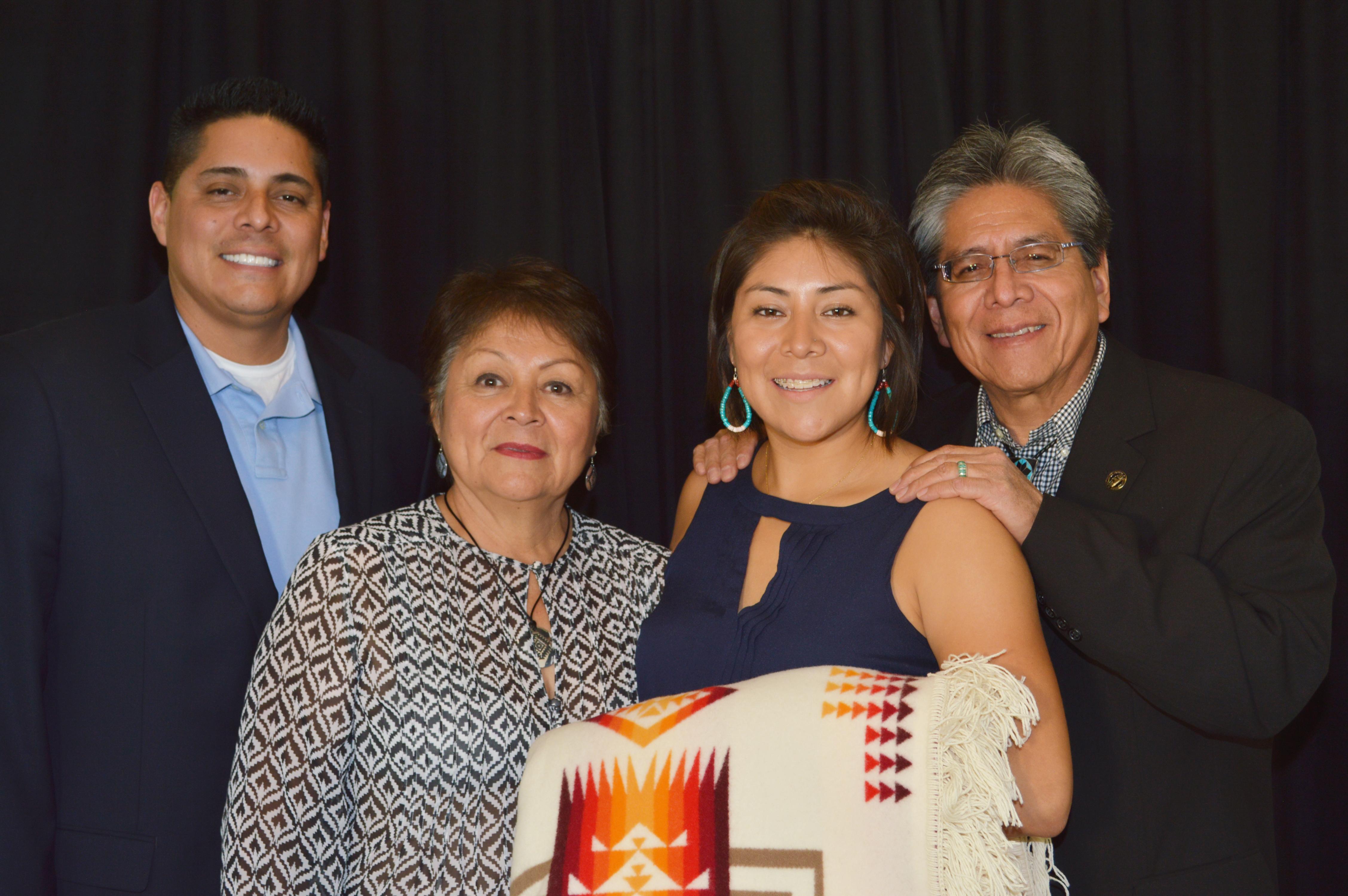 Lisa Antonio y familia.