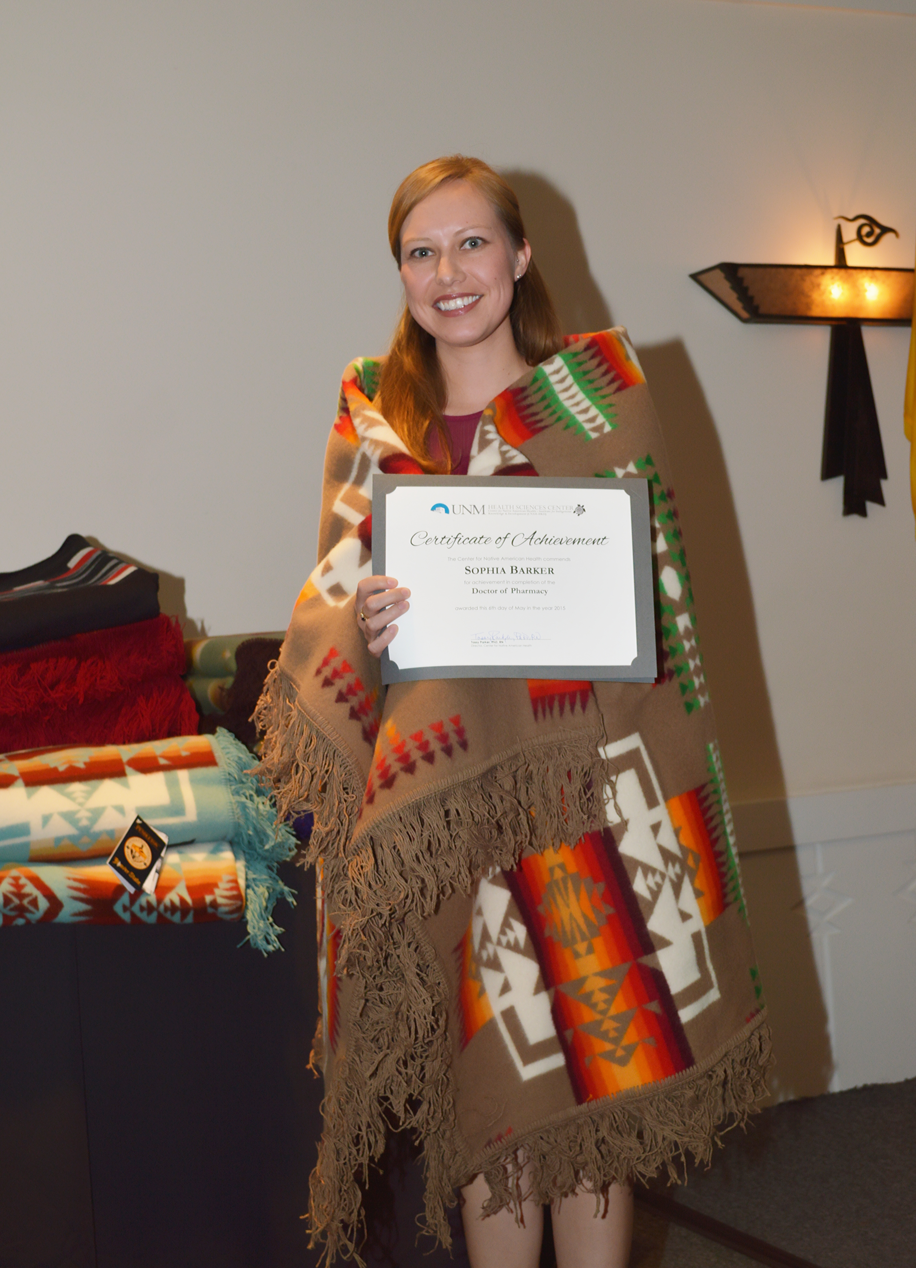 Sophia con certificado.