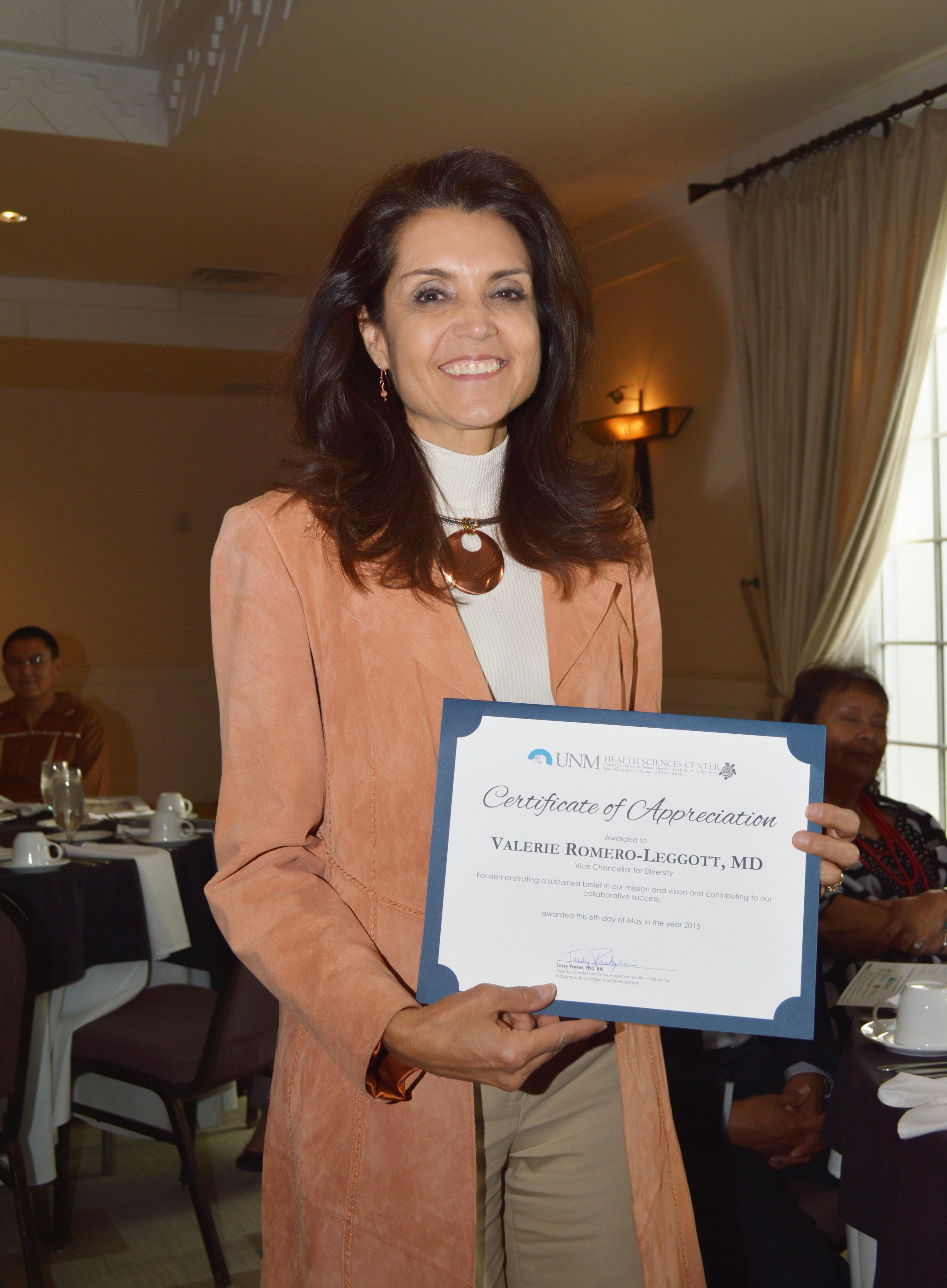 Certificado de tenencia de Valerie.