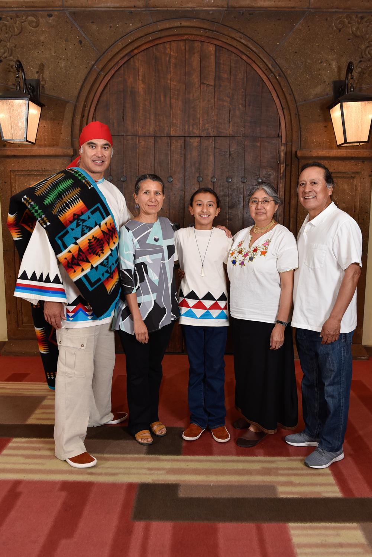 Alan Dominguez y familia