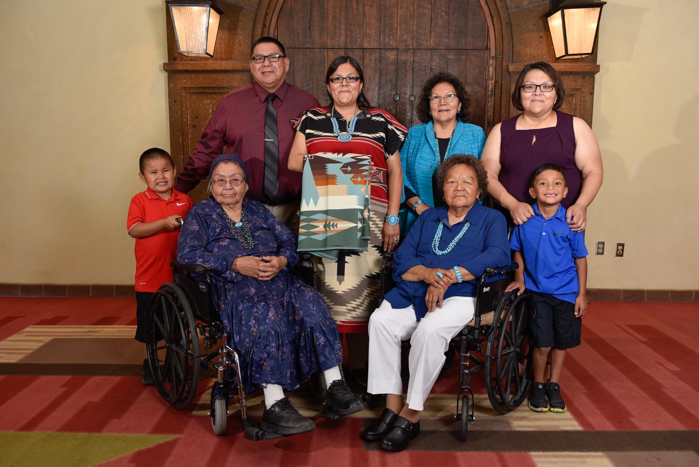 Patrica Diswood y su familia