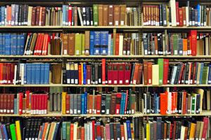 Գրապահոցը լի է գրքերով CNAH գրադարանում