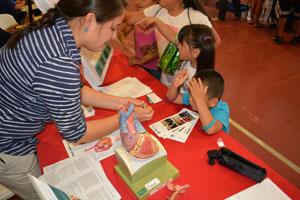 Kinder auf der Gesundheitsmesse.
