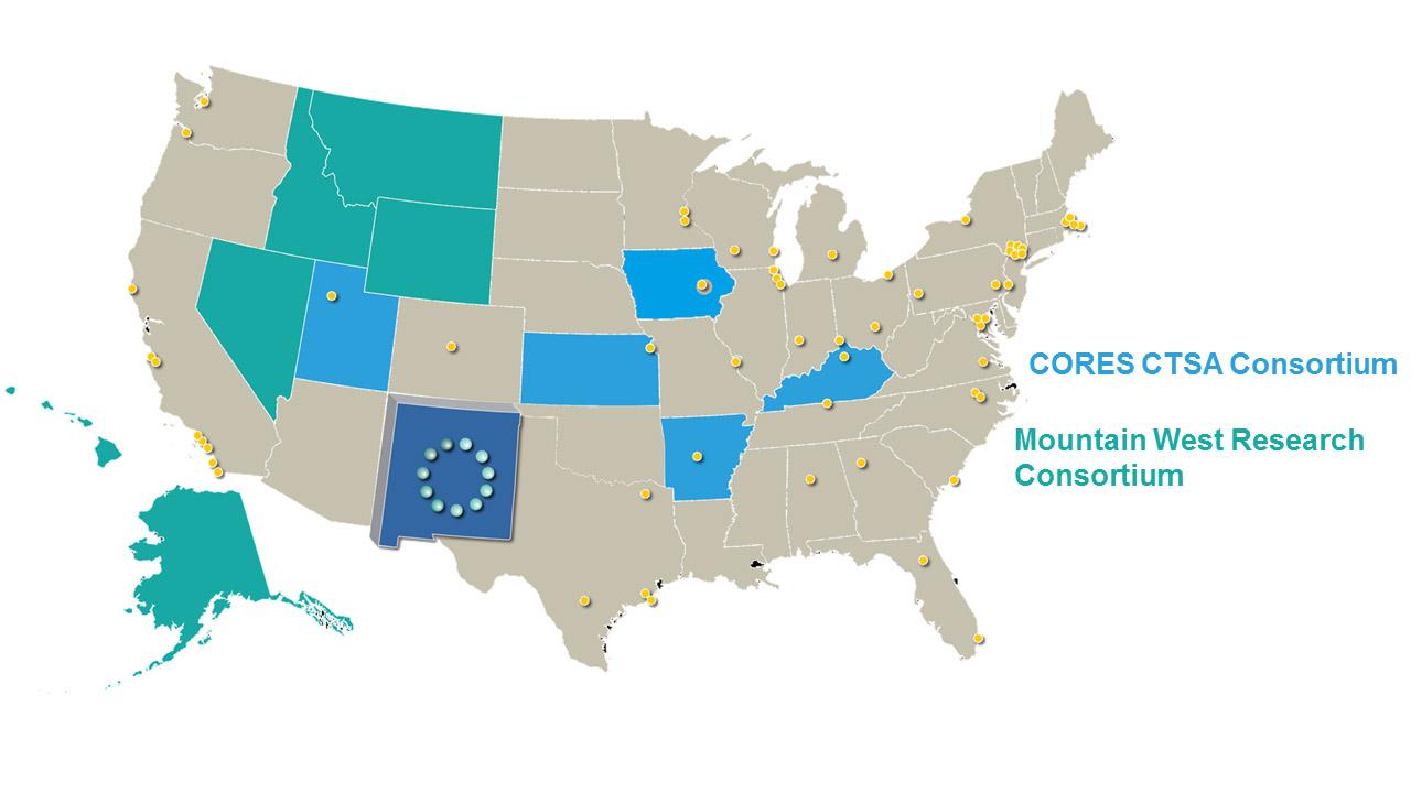 सीटीएसए कंसोर्टियम में राज्यों का नक्शा