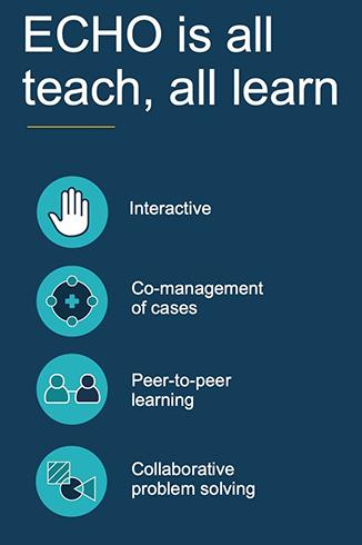 ECHO es todo enseñar, todo aprender: interactivo, cogestión de casos, aprendizaje entre pares, resolución colaborativa de problemas
