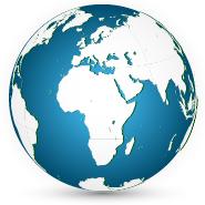 Ilustración del hemisferio oriental, específicamente, África
