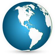 ilustración del hemisferio occidental