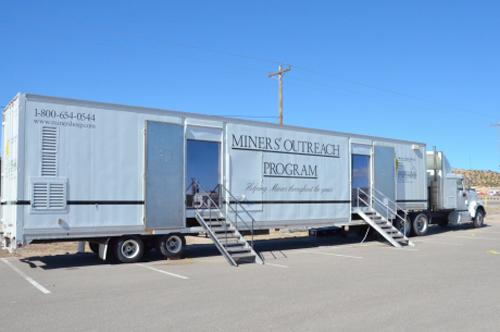 Мобильная клиника для горняков.