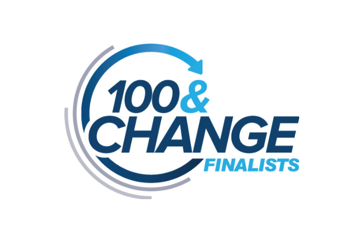 100 y cambiar logo