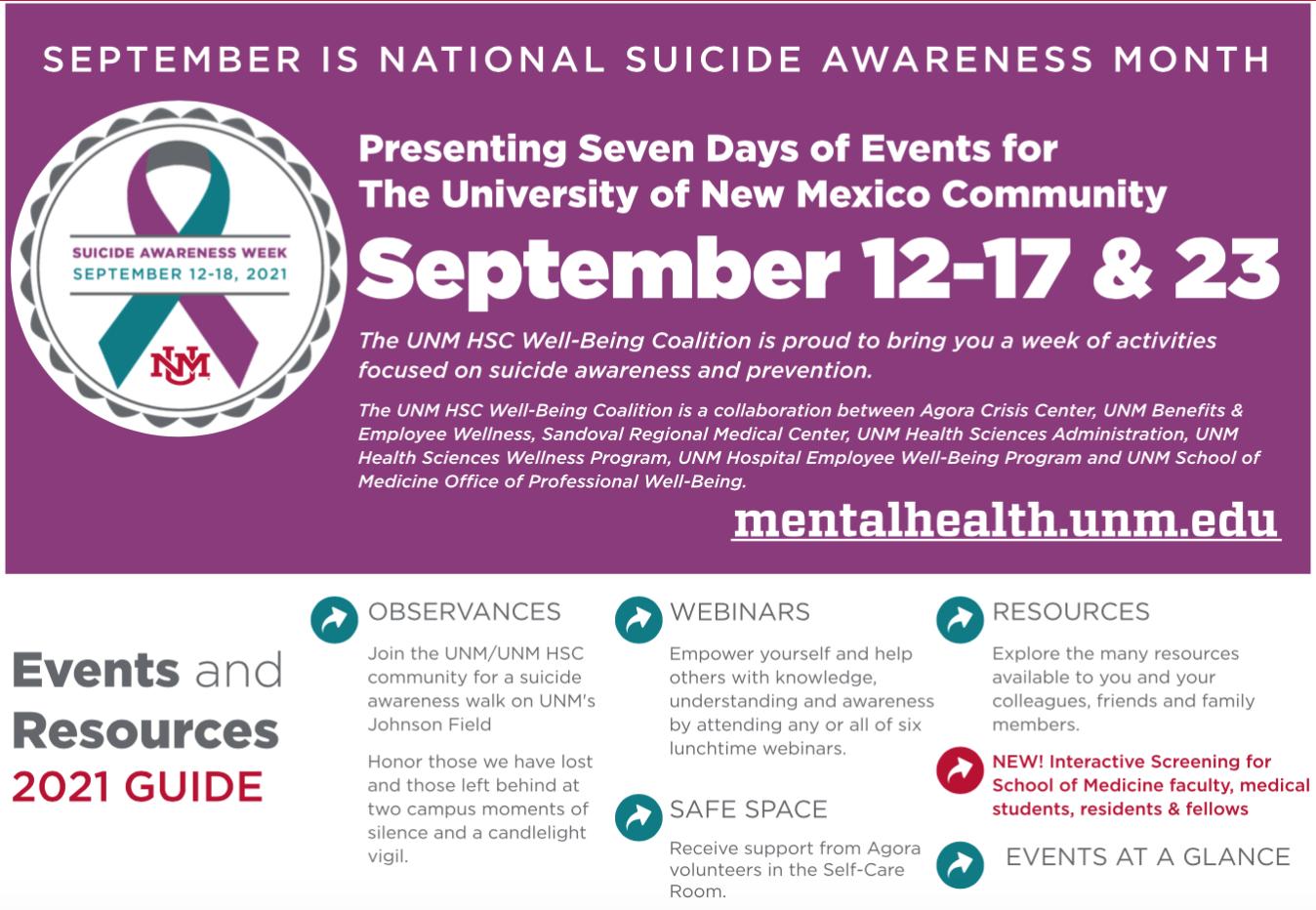 Semaine de sensibilisation au suicide 2021