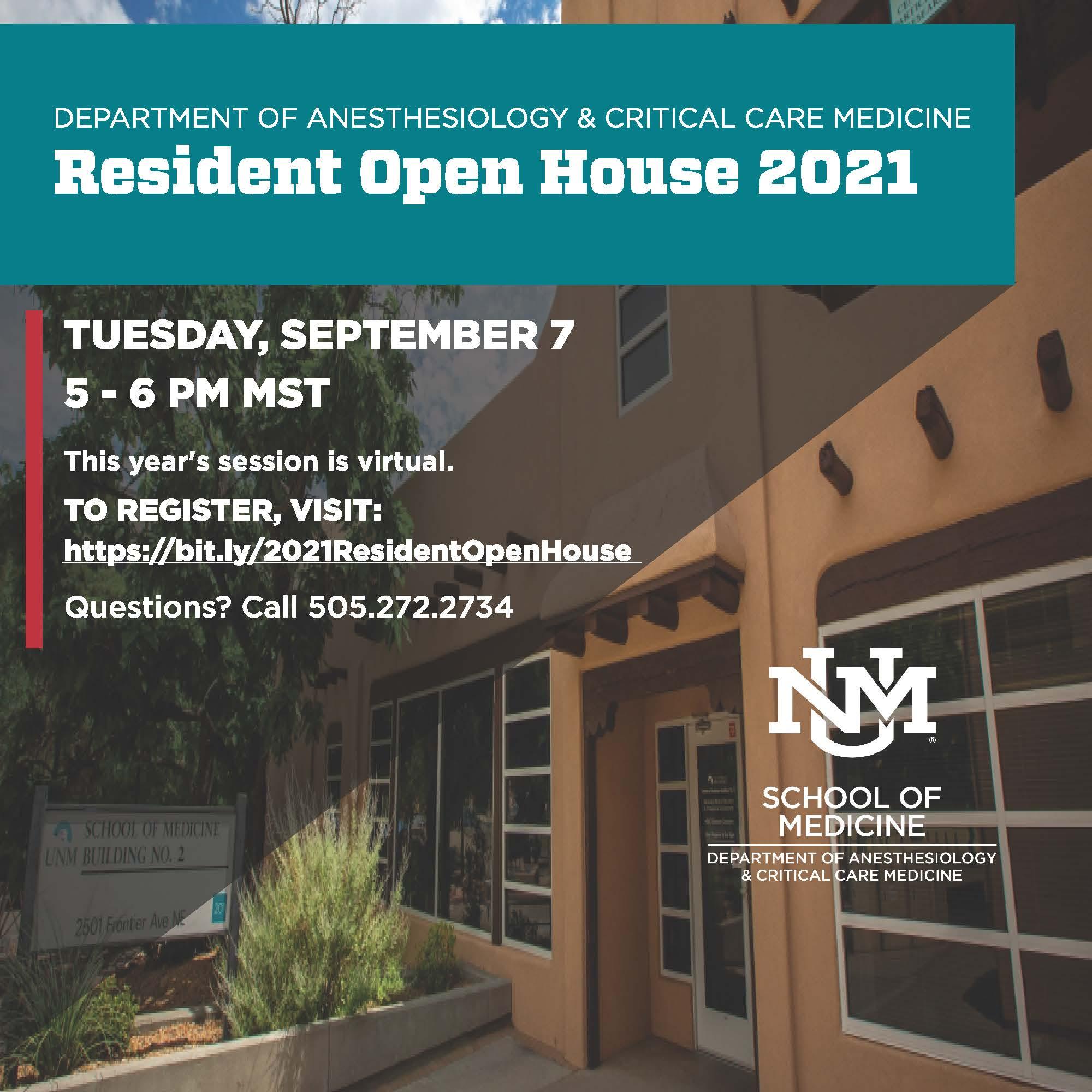 anes open house flier مع نص على صورة لمبنى med two