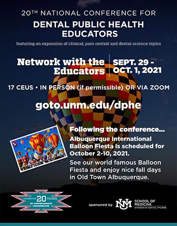 Conferencia Nacional de Educadores en Higiene Dental 20 aniversario logo