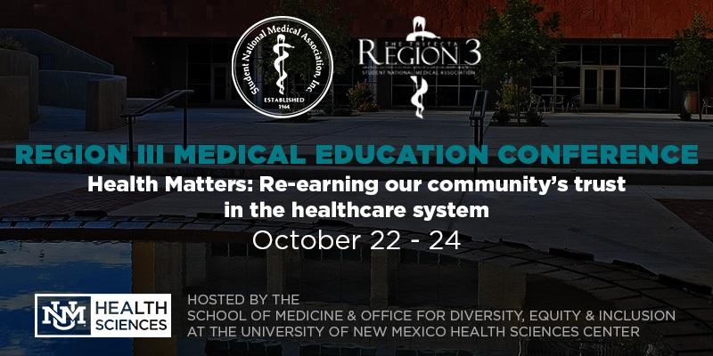 Conferencia de Educación Médica de la Región III 22-24 de octubre de 2021