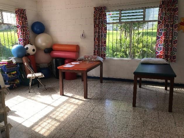 Không gian điều trị tại trại trẻ mồ côi