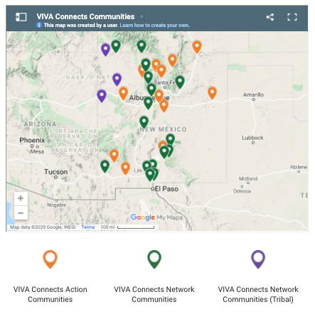 Mapa de VIVA