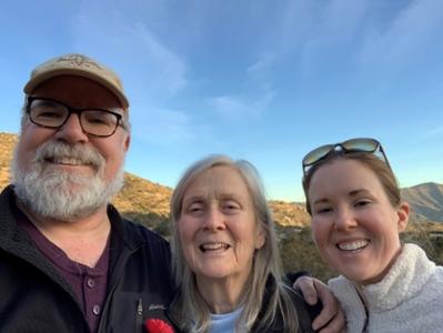 Otterson with parents
