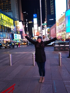 Gupta en Times Square