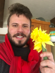 Kessler with flowers