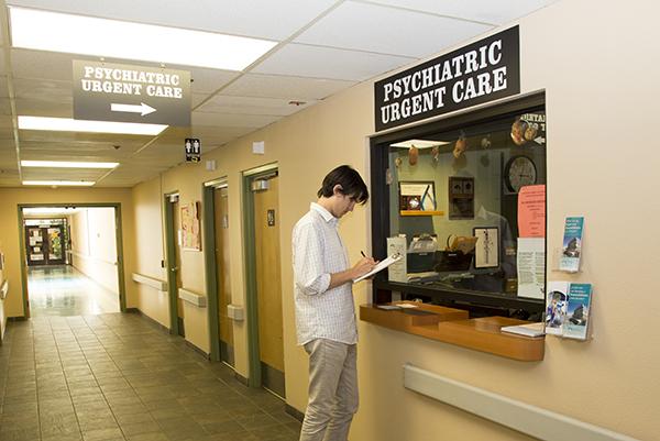 A patient at psychiatric urgent care