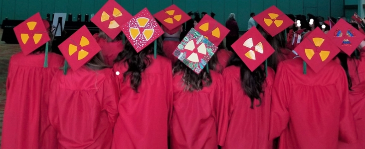 gorras de graduación