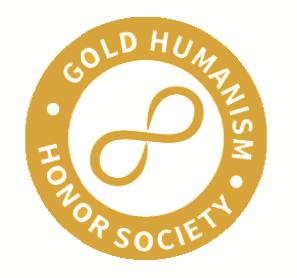 द गोल्ड ह्यूमनिज्म ऑनर सोसाइटी का लोगो