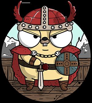 cartoon de viking gopher