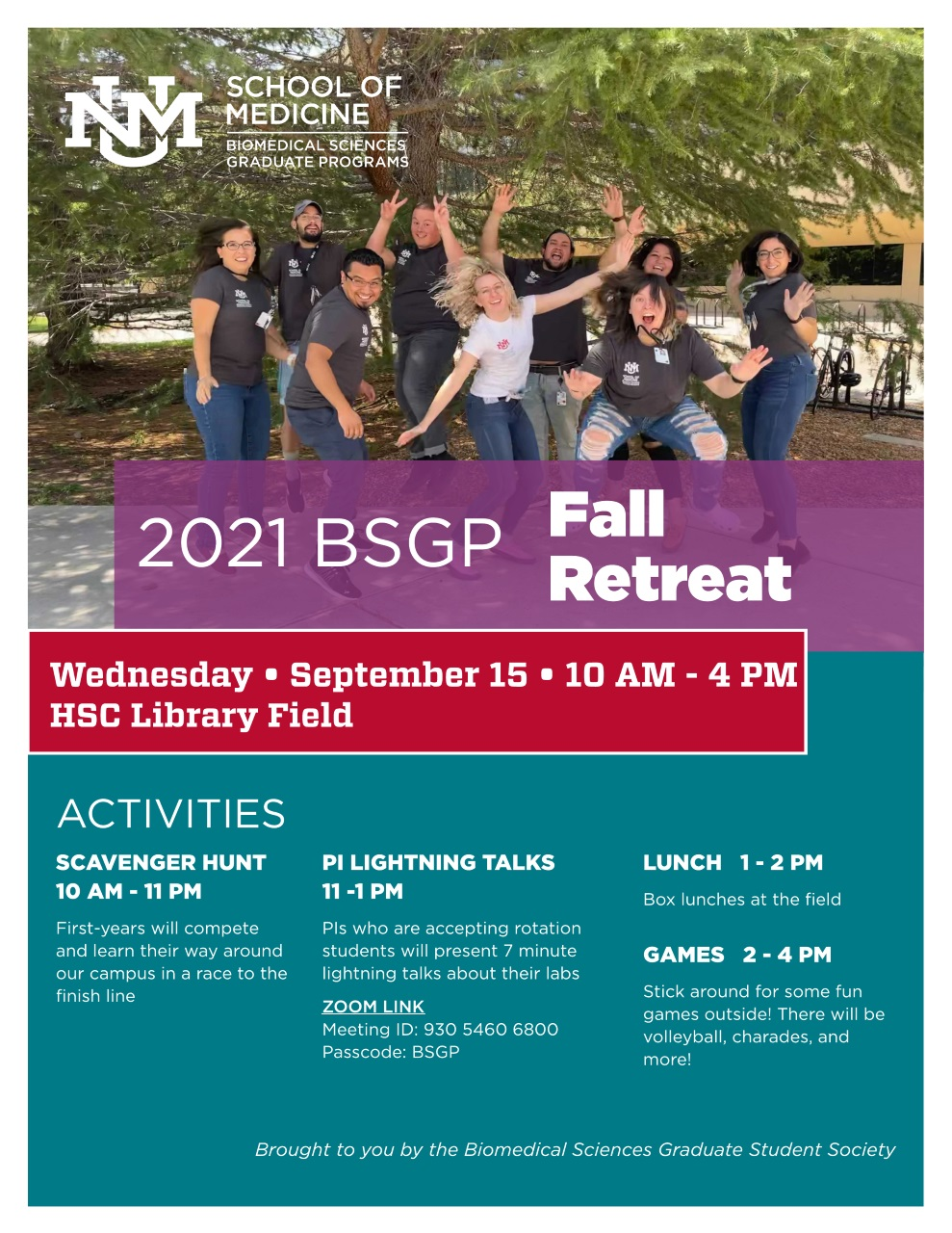BSGP Fall Retreat 09/13
