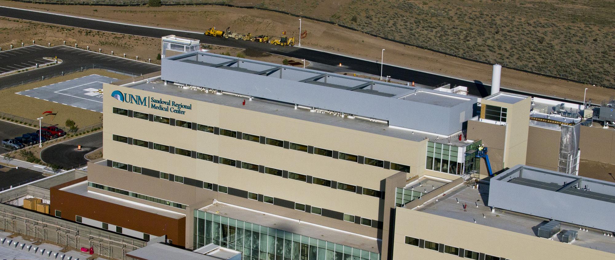 Vista aérea del Centro Médico Regional Sandoval