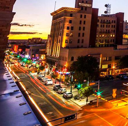 Albuquerque de noche.