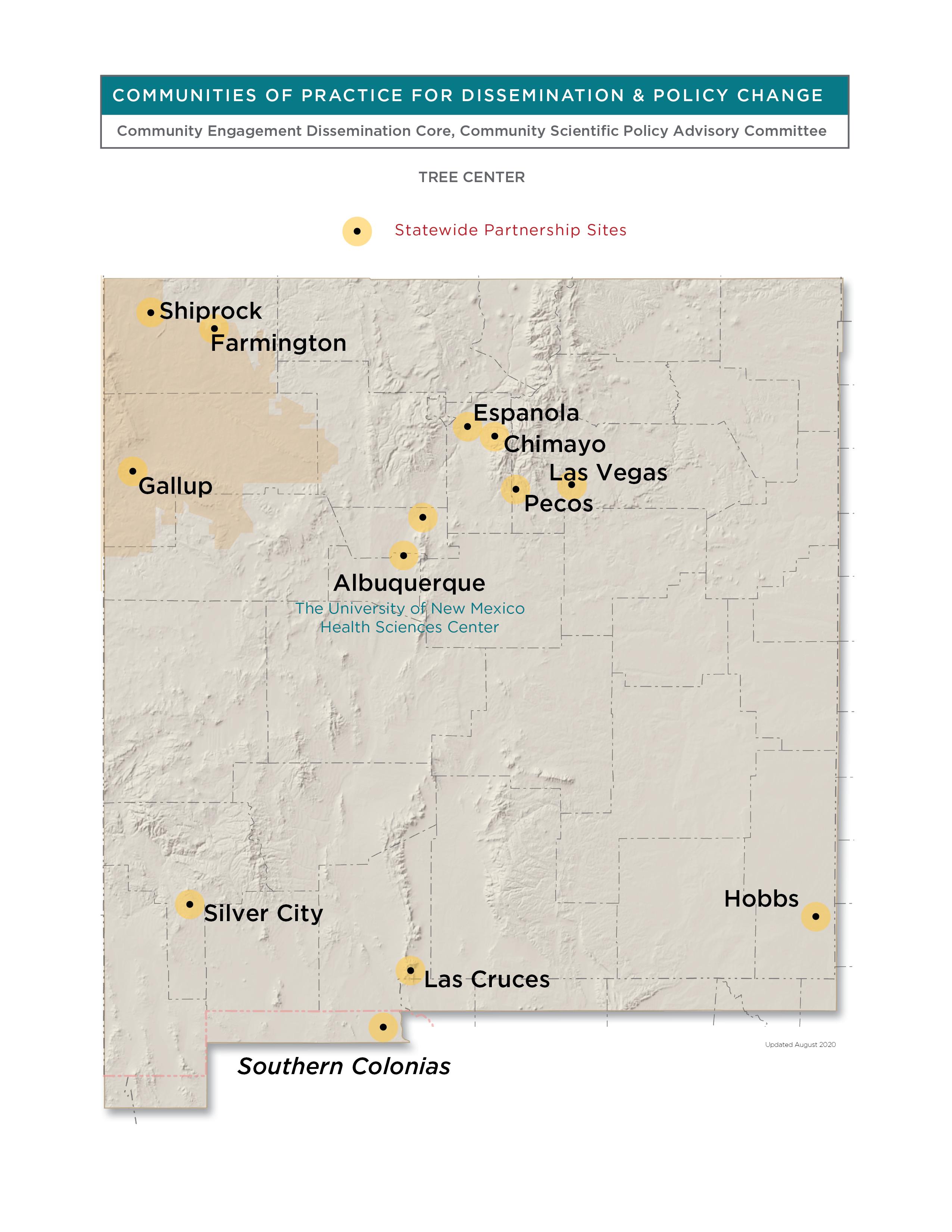 Bản đồ UNM HSC CEDC New Mexico.