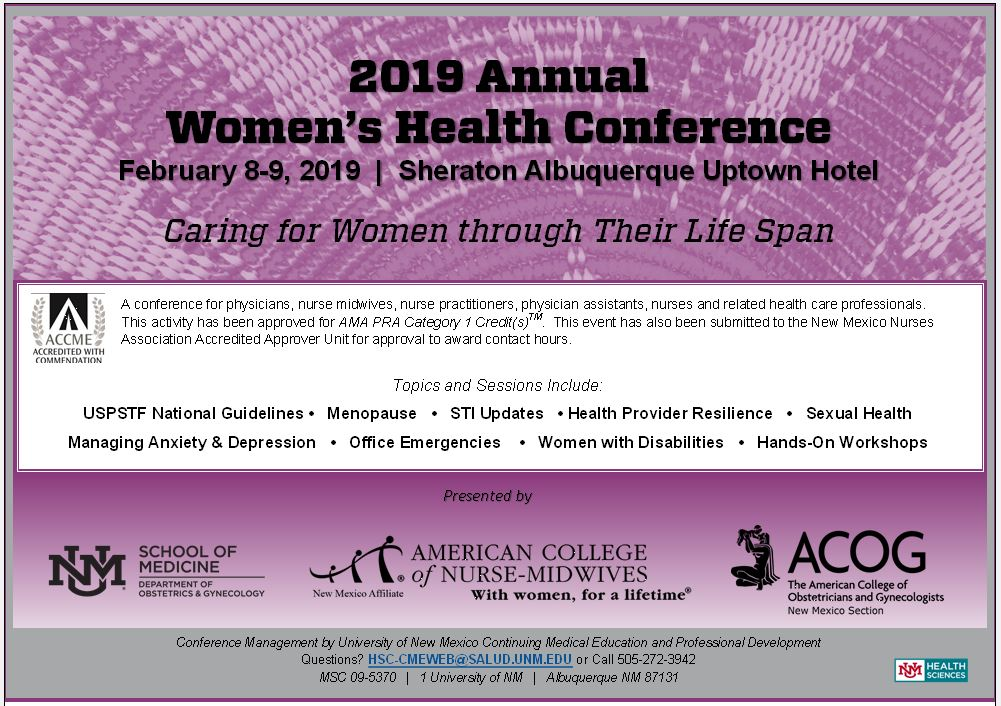 2019 Annual Women's Health Conference: Caring for Women Through