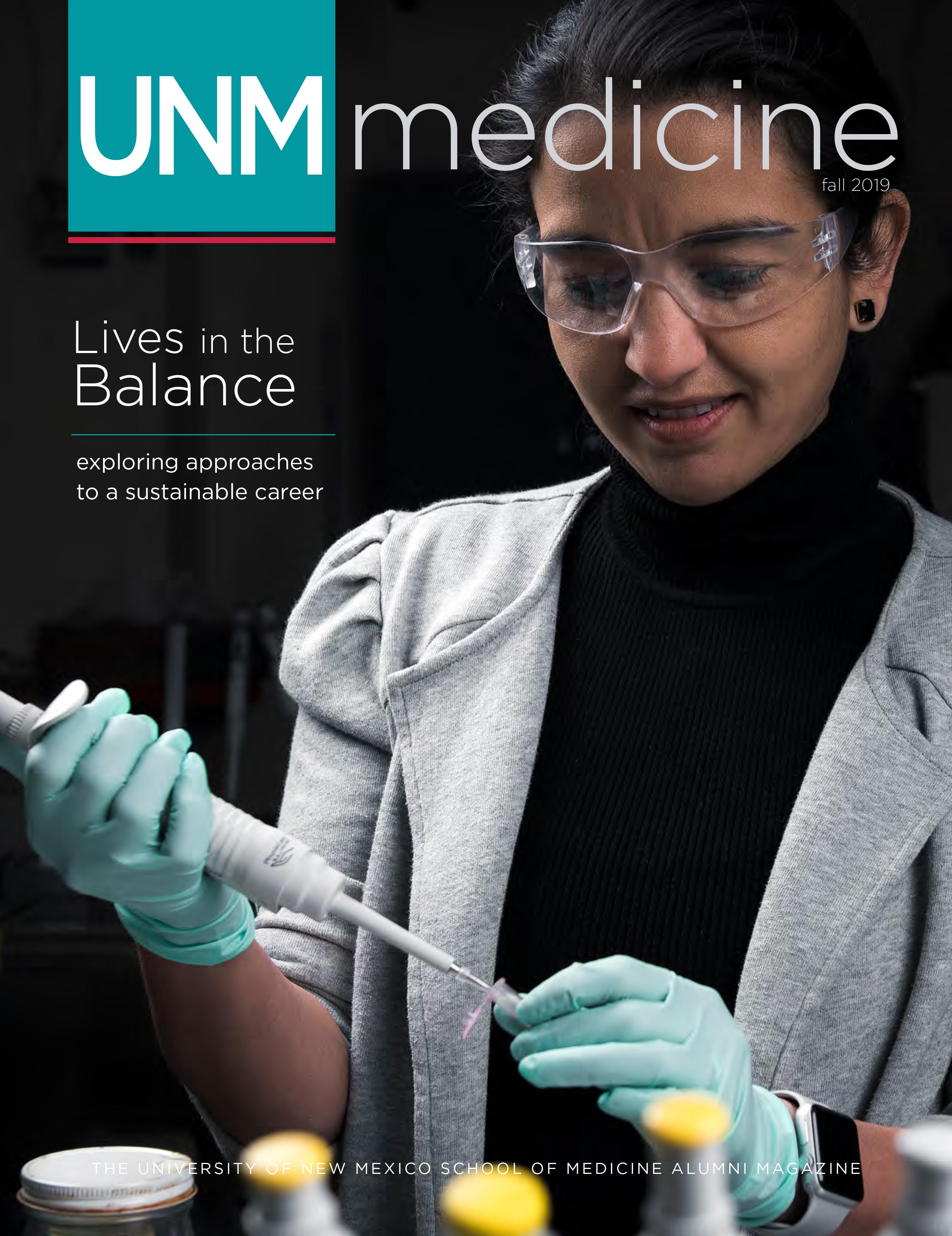 Portada de UNM Medicine Otoño 2019